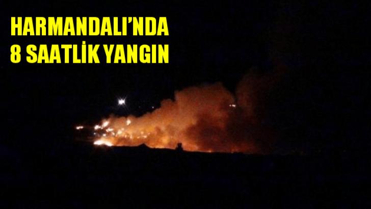 Harmandalı'da yine yangın çıktı: Alevlerle 8 saat savaş!
