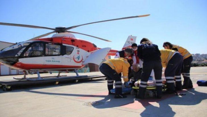 İzmir'de ambulans havalandı, mesafeler kısaldı!