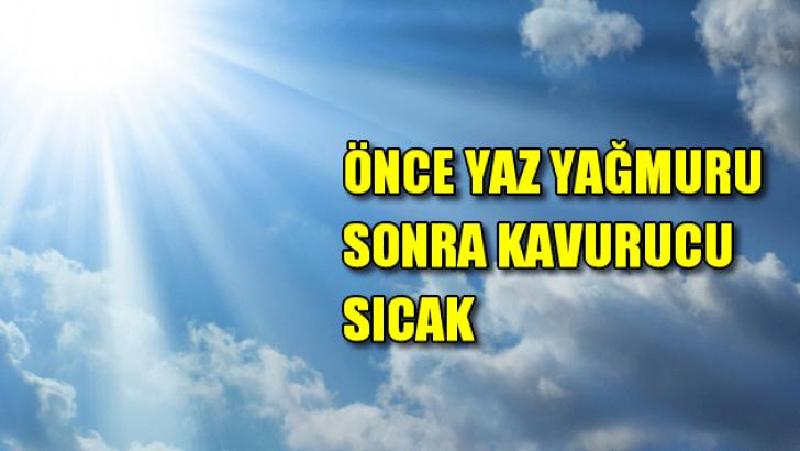 İzmir'de önce yağmur sonra kavurucu sıcak!