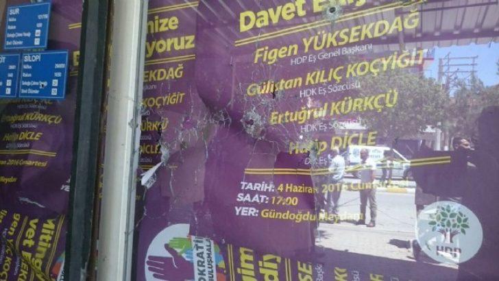 İzmir'de polis memurundan HDP binasına 8 el ateş!