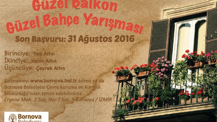 Bornova en güzel balkon ve bahçesini seçiyor