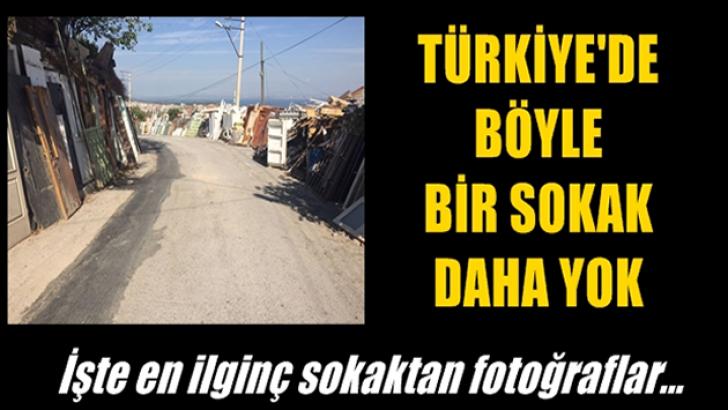 Türkiye'de böyle bir sokak daha yok! İşte fotoğrafları…
