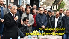 """""""81 vilayet içinde parmakla gösteriliyoruz"""""""