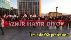 İzmir'de YSK protestosu