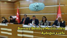 Bornova Belediye Meclisi'nden Aydoğan'a vefa