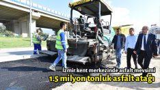 1.5 milyon tonluk asfalt atağı