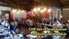 CHP'den referandumun emekçilerine teşekkür