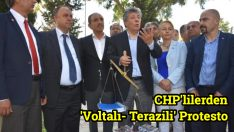 CHP'lilerden 'Voltalı- Terazili' Protesto
