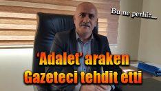 CHP'li Başkandan 'Adalet' yürüyüşünde gazeteciye tehdit