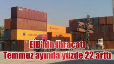 EİB'nin ihracatı Temmuz ayında yüzde 22 arttı