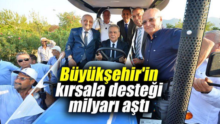 Büyükşehirin kırsala desteği milyarı aştı