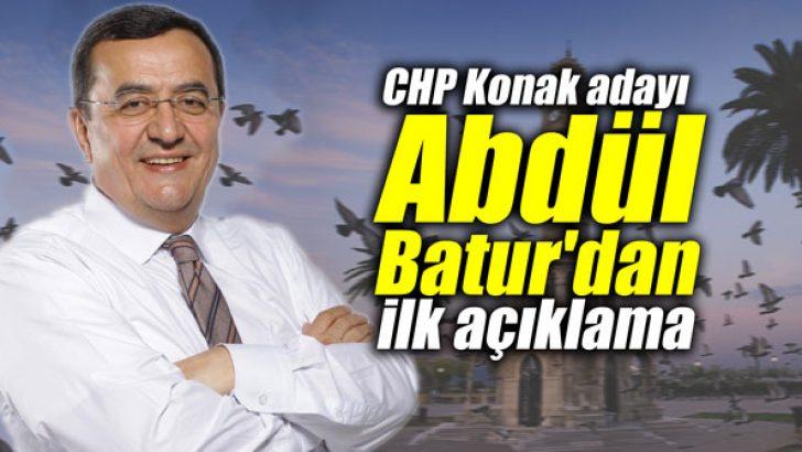 CHP Konak adayı Batur'dan ilk açıklama
