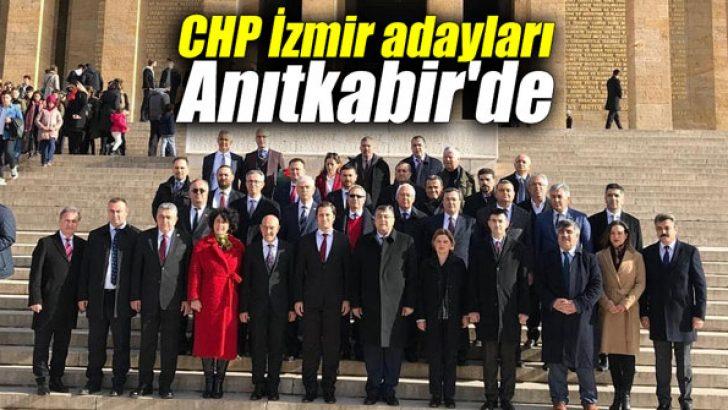 CHP İzmir adayları Anıtkabir'de