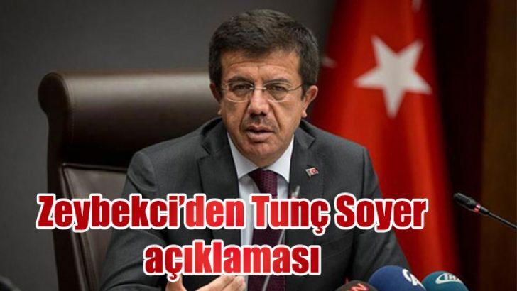 Nihat Zeybekci'den Tunç Soyer açıklaması