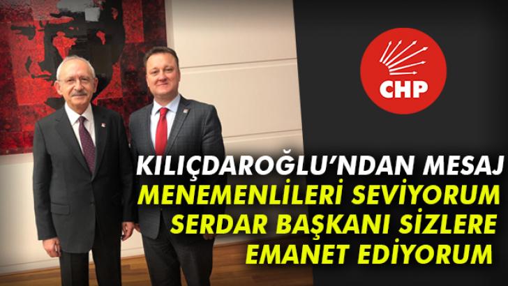 Kılıçdaroğlu'ndan Menemen mesajı!