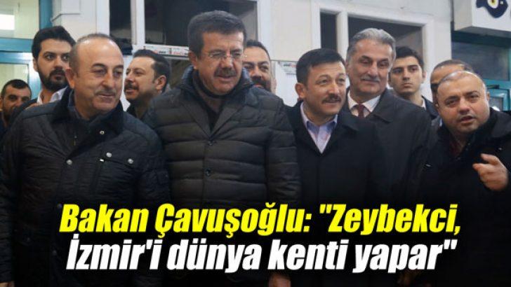 """Bakan Çavuşoğlu: """"Zeybekci, İzmir'i dünya kenti yapar"""""""