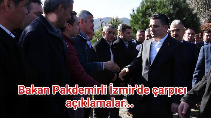 Bakan Pakdemirli İzmir'de çarpıcı açıklamalar…