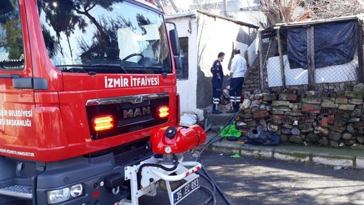Buca'da yangın faciası: Anne ve bebeği can verdi
