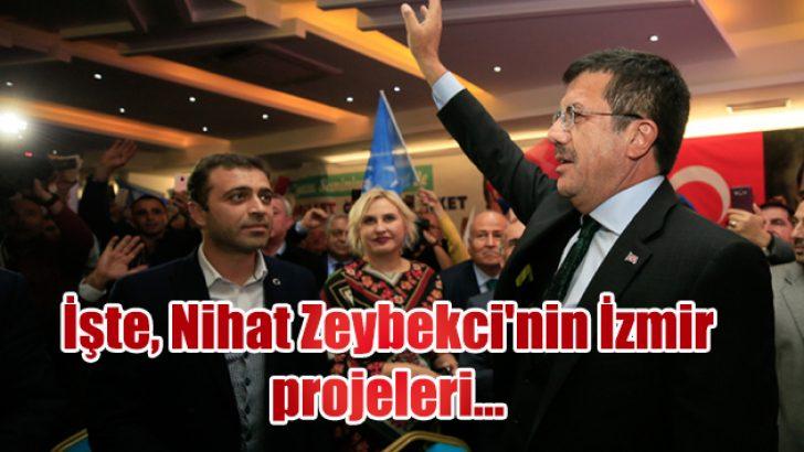 İşte, Nihat Zeybekci'nin İzmir projeleri….
