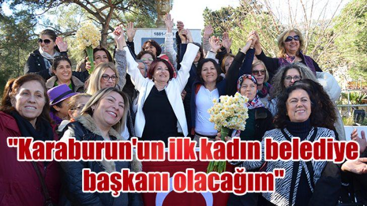 """""""Karaburun'un ilk kadın belediye başkanı olacağım"""""""