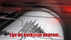 Ege'de korkutan deprem…