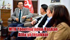 MTK Yönetimi'nden Başkan Atila'ya teşekkür