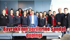 'BAYRAKLI'NIN PERİLERİ'NE BAŞKAN SANDAL DOPİNGİ