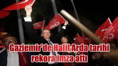 Gaziemir'de Halil Arda tarihi rekora imza attı