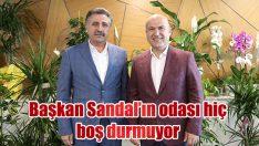 BAŞKAN SANDAL'I SİYASİ PARTİ TEMSİLCİLERİ DE YALNIZ BIRAKMADI