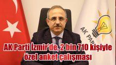 AK Parti İzmir'de, 2 bin 710 kişiyle özel anket çalışması