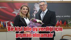 Gaziemir Belediye Başkanı Halil Arda, Gündoğdu'da işçilerle yürüdü