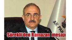 Başkan Sürekli'den Ramazan ayı mesajı