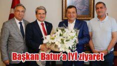 Başkan Batur'a İYİ ziyaret