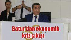 Batur mecliste konuştu