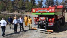 Kemalpaşa Belediye Başkanı Yangından Zarar Gören Tırazlı ve Menderes'e gitti.