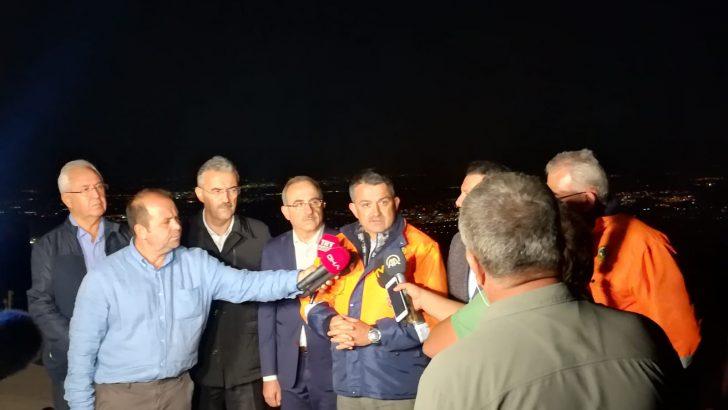 Başkan Selvitopu gece-gündüz yangın bölgesinde