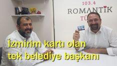 İzmir'de tek  İzmirimkart kullanan belediye başkanı