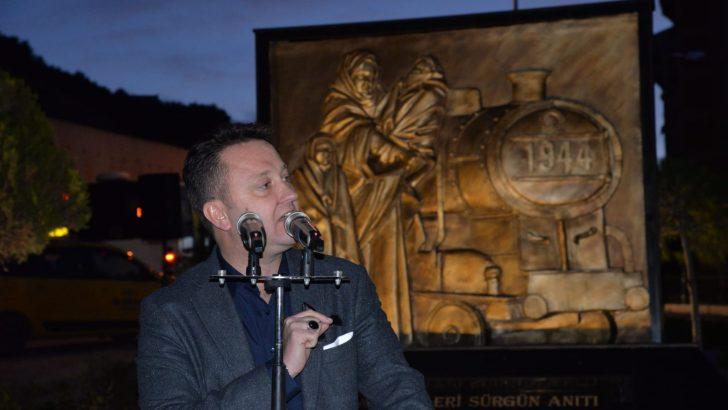 """""""Ahıska Türkleri Sürgün Anıtı"""" Menemen'de açıldı"""