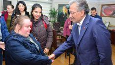 Başkan Uygur'a en özel ziyaret