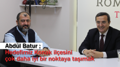 """Abdül Batur ; """"Hedefimiz Konak ilçesini çok daha iyi bir noktaya taşımak"""""""