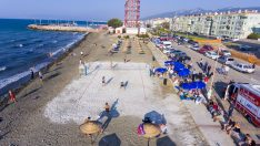 Güzelbahçe Siteler Plajı Mavi Bayrak yolunda