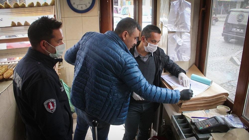 Bergama'da Fırınlara Koronavirüs Denetimi