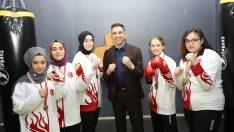 Başkan Kayalar Kadın Sporcularla