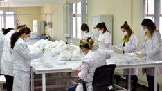 Altın Bilezik Atölyesi'nde maske üretimine başlandı