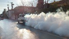 Urla'da Koronavirüs temizliği