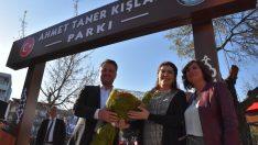 Ahmet Taner Kışlalı Parkı Menemen'de açıldı