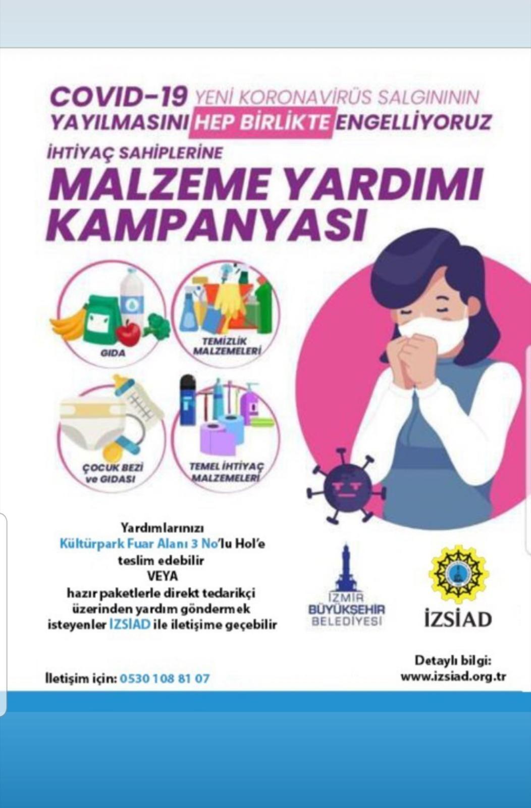 Korona virüsüne karşı İZSİAD'dan yardım kampanyası