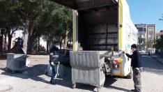 Bergama'da 5 bin çöp konteynırına otomatik yıkama ve dezenfekte