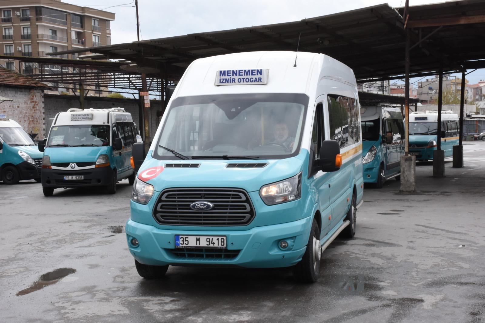 Menemen garajındaki minibüs ve otobüsçülerden ücret alınmayacak