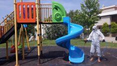 Çocuklar İçin Tüm Parklar Yeniden İlaçlandı